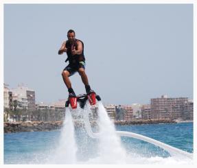 flyboard, torrevieja, eau, le mer, sport, aquatique